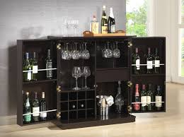 Gray Bar Cabinet Wood Brown Modern Bar Cabinet U2013 Home Design And Decor