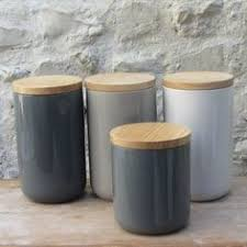 kitchen jars and canisters grey ceramic tea coffee sugar canisters kitchen storage jars set