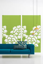 ceiling suspended acoustic room division with floral cut out made