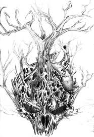 skull tree concept by bornpagan on deviantart
