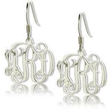 Monogrammed Earrings Personalized Earrings For Her