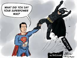 cartoons drew batman superman