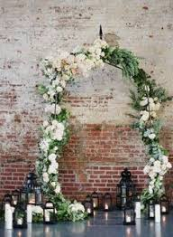 wedding arch backdrop white gold winter wedding inspiration arbors garlands and