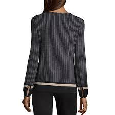 keyhole blouse liz claiborne sleeve keyhole blouse womens jcpenney