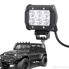 battery operated light bar 4inch 18w flood cree led spot light bar offroad pods lights 4wd led