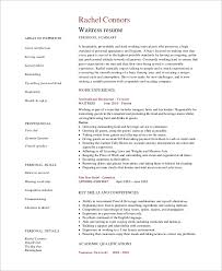 Restaurant Hostess Resume Examples by Sample Waitress Resume 6 Examples In Word Pdf