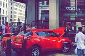 car smashes into side of tesco supermarket in piccadilly circus