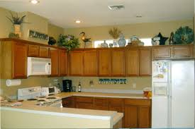Lights For Kitchen Cabinets by Ideas For Decorating Space Above Cabinets In Kitchen Room Design