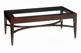 Rectangular Coffee Table With Glass Top Justin Breda Coffee And Side Tables