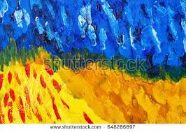 abstract background oil paints green blue stock illustration