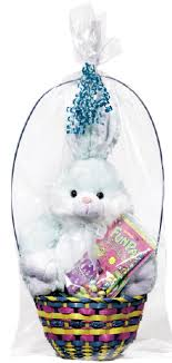 filled easter baskets easter plush basket with a candy filled bag