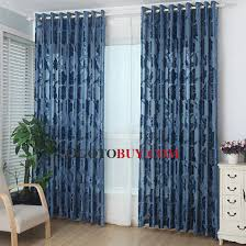 chinese peony floral pattern dark blue luxury sheer curtain buy
