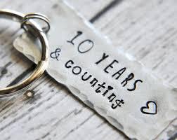 10 year wedding anniversary gifts 10 year anniversary etsy