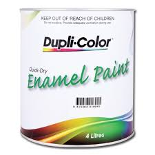 dupli color paint enamel white 4 litre supercheap auto