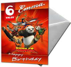 kung fu panda personalised birthday card large a5 envelope ebay