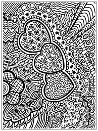 hard abstract coloring pages of heart pattern abstract