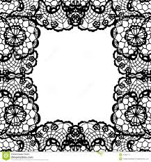 Black And White Invitation Cards Vintage Lace Invitation Card Stock Vector Image 45306171