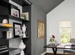 gray home office ideas cool gray corner office paint color schemes