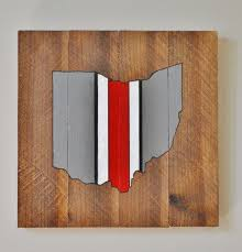 state wood new ohio state buckeyes helmet wooden sign scarlet and gray osu