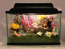 Pinterest Fairy Gardens Ideas by Fairy Garden Fish Tank Made As A Night Light For My Nieces