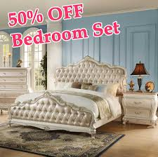 Off White Queen Bedroom Set White And Gold Bedroom Set Crowdbuild For