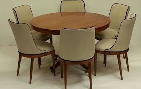 Dining Table And Six Chairs Suite Of Six French Art Deco Dining Chairs Style Of Jules Leleu