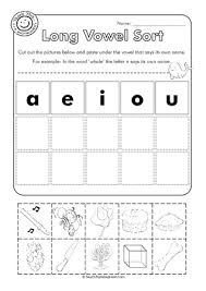 long vowel worksheets for kindergarten free worksheets library