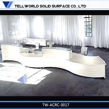 Rounded Reception Desk by Hair Salon Reception Cashier Desks Quartz Stone Curved Reception