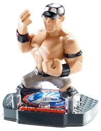 amazon com wwe rumblers apptivity john cena figure toys u0026 games