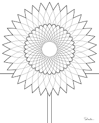 brilliant coloring page of smiling sunflower pages the little with