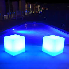 led cubes illumunated cubes 40cm glow cubes indoor and outdoor use goglow