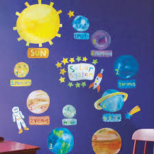 solar system children s wall stickers solar system wall stickers