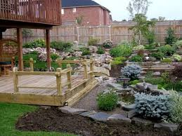 asian backyard decoration with deck and stones outdoor asian