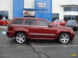 jeep srt 2007 2008 red rock crystal pearl jeep grand cherokee srt8 4x4 62159115