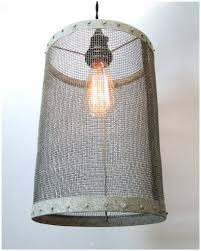 wire barrel pendant light fixture aged galvanized look old pics