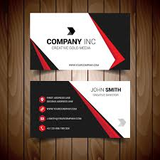 Red Business Cards Red And Black Bordered Business Card Free Vector In Encapsulated
