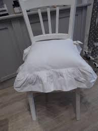 galette de chaise style campagne coussin avec noeud projet diy housse de coussin à franges u0026 sans
