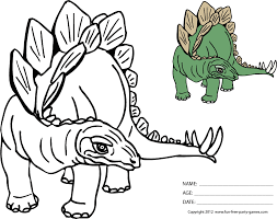 free dinosaur coloring sheets cartoon dinosaur stegosaurus