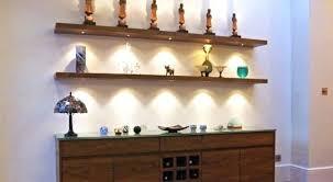 floating kitchen shelves with lights shelves with light wall mounted white floating shelf with 2 led