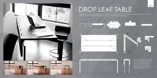 Origami Drop Leaf Dining Table Origami Drop Leaf Rectangle Dining Table Home Table Decoration