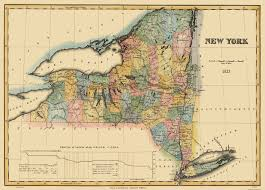 Washington New York Map by Old State Map New York Lucas 1823