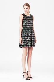 french connection siberian stripe sequin dress lyst