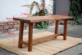 canffy rakuten global market bench antique teak tree length 110