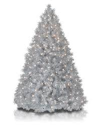 silver christmas silver and metallic tinsel christmas trees treetopia
