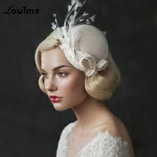 uk vintage princess bridal hats linen wedding hair accessories