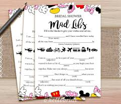 disney bridal shower mad libs game printable disney bridal