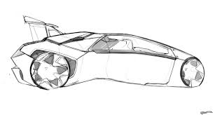 ferrari sketch side view gb