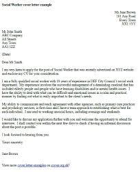 job sample cover letter social worker cover letter example cover letter examples
