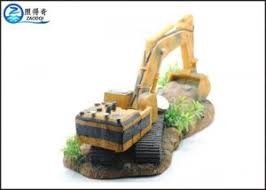 excavator shaped resin aquarium ornaments for cool fish tank