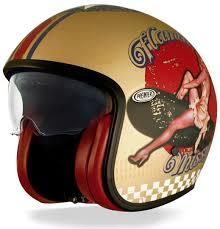 motorcycle helmets premier vintage pin up motorcycle helmets u0026 accessories jet gold